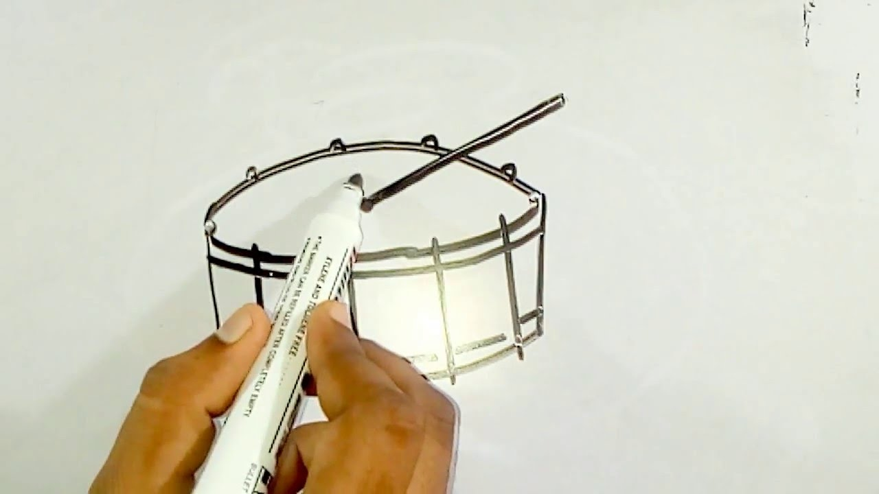 1280x720 Online Drawing For Kids How To Draw A Drum Set