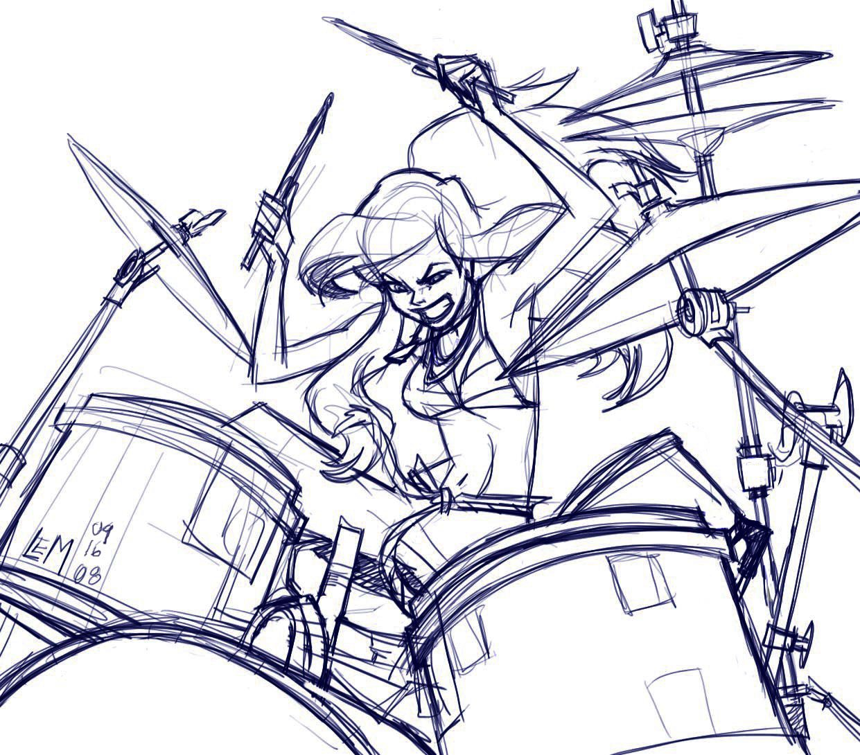 1241x1090 Ariel The Drums By Laurenmontgomery