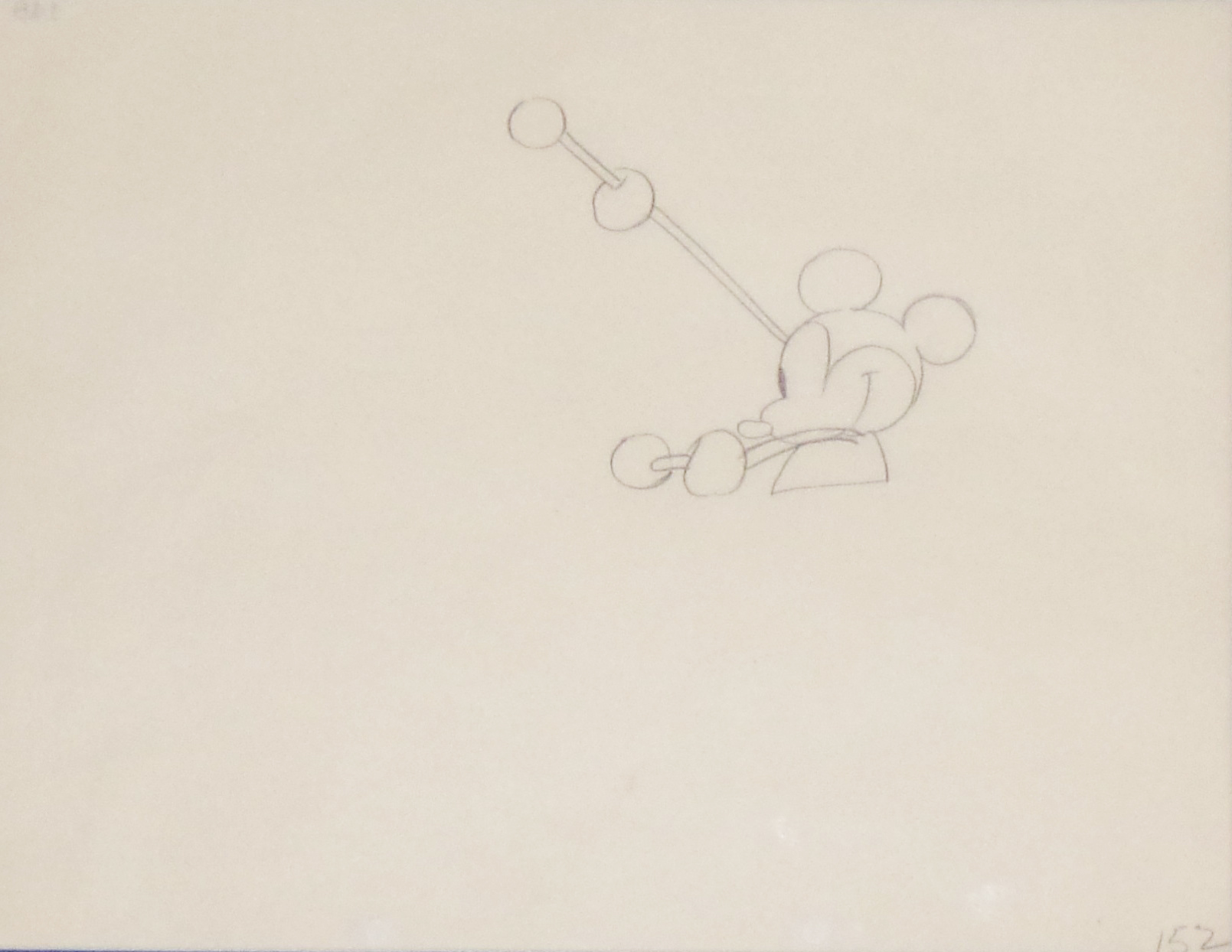 1609x1244 Animation Cel Drawing Mickey Mouse With Drumsticks Animation Art