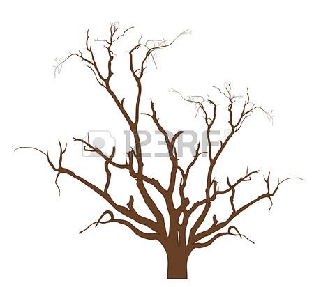 450x412 Dry Tree Black Shape Royalty Free Cliparts, Vectors, And Stock