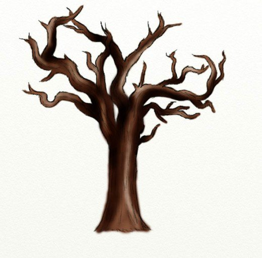520x512 How To Draw A Dead Tree Feltmagnet