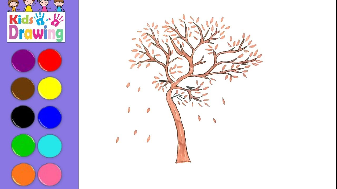 1280x720 How To Draw A Dry Tree Coloring Pages For Kids