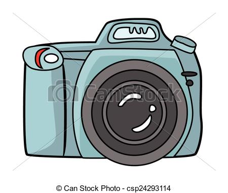 450x380 Blue Camera Dslr Camera Vector Clip Art
