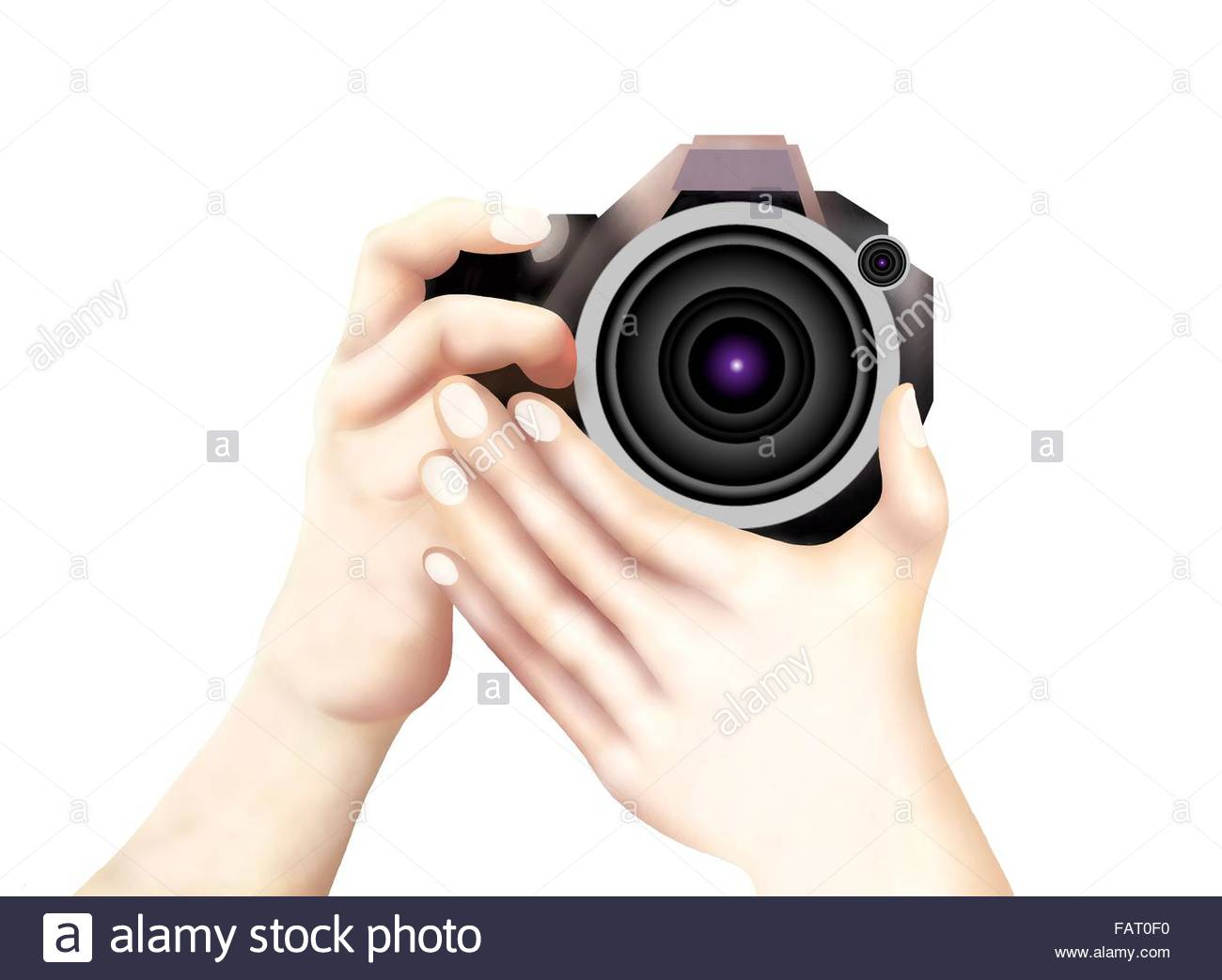 1300x1043 Hand Drawing Of Professional Photographer Taking Pictures