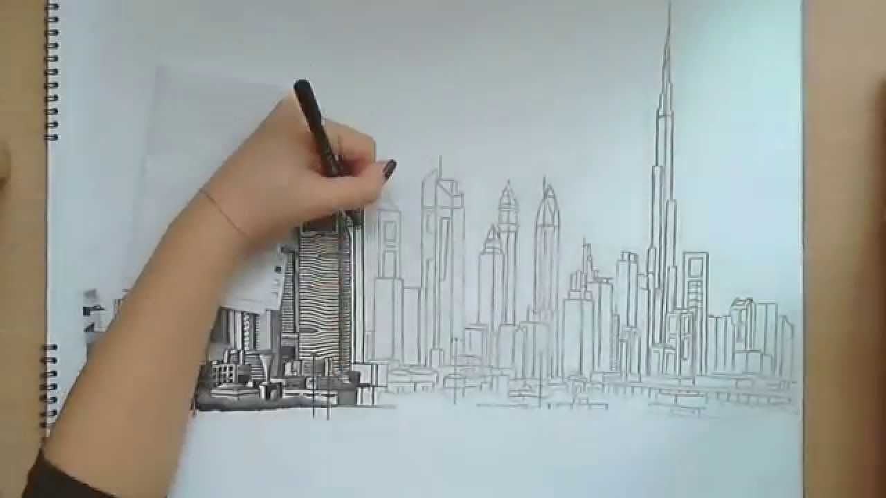Art Line Uae : Dubai drawing at getdrawings free for personal use
