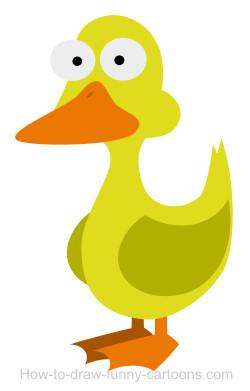 250x391 Drawing A Duck Cartoon