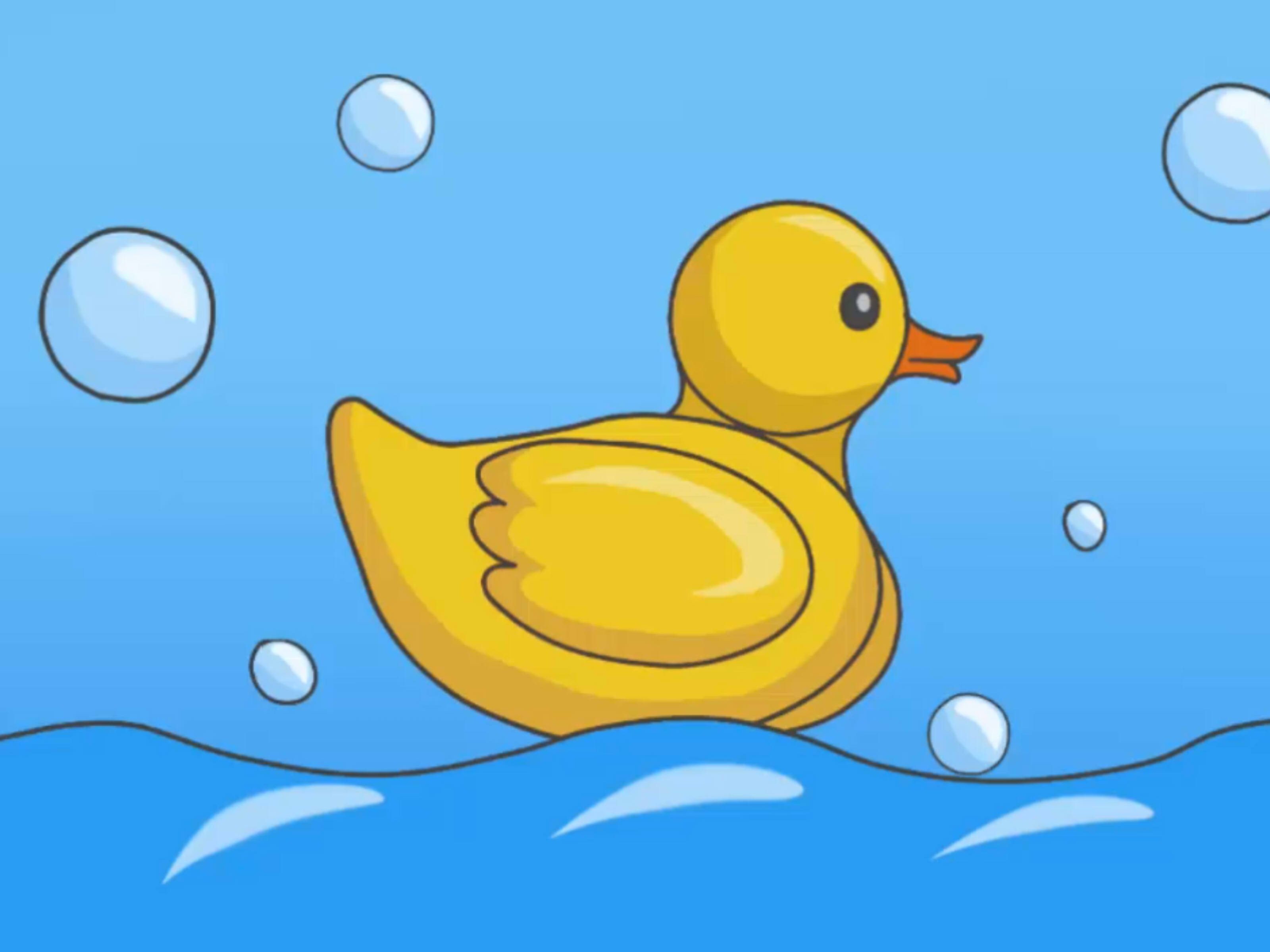 3200x2400 Authentic Duck Drawing For Kids How To Draw A Rubber 7 Steps