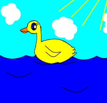 350x339 How To Draw How To Draw A Duck For Kids
