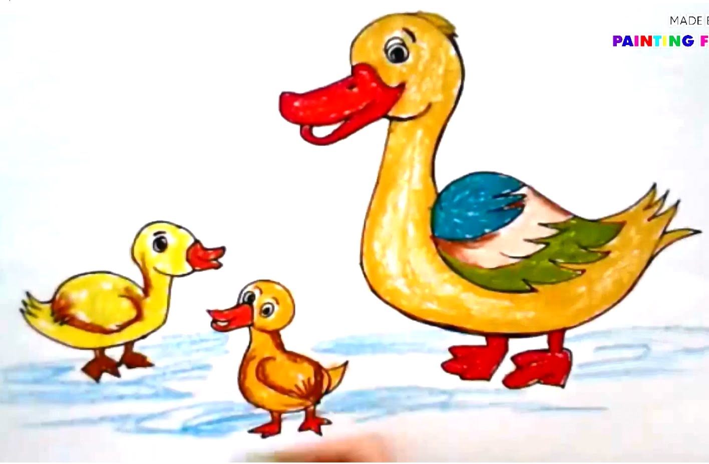 1416x928 Paintingnimals For Kids How To Draw Duck How To Paint