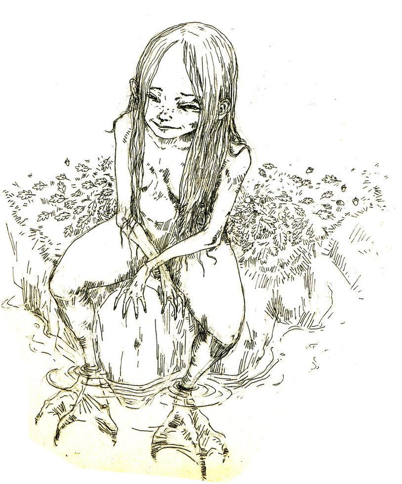 814x981 Lamia Basque Myth A Siren Like Female Creature That Had Duck