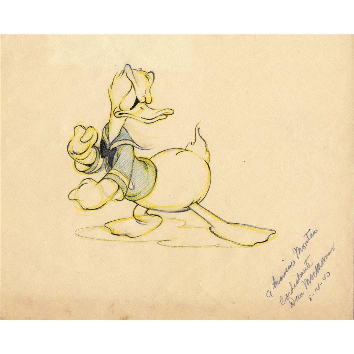 1200x1200 Original Dan Macmanus Donald Duck Drawing.