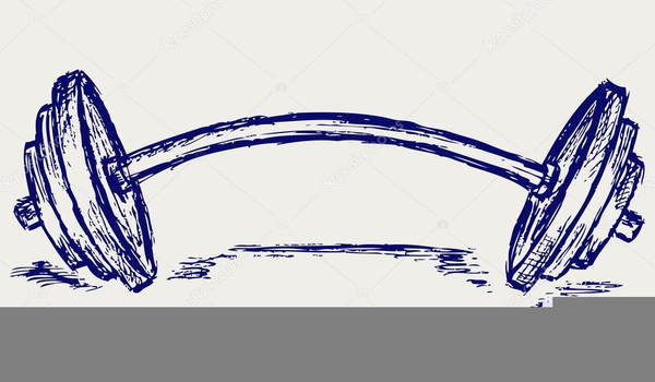 600x350 Dumbbell Drawing Free Images