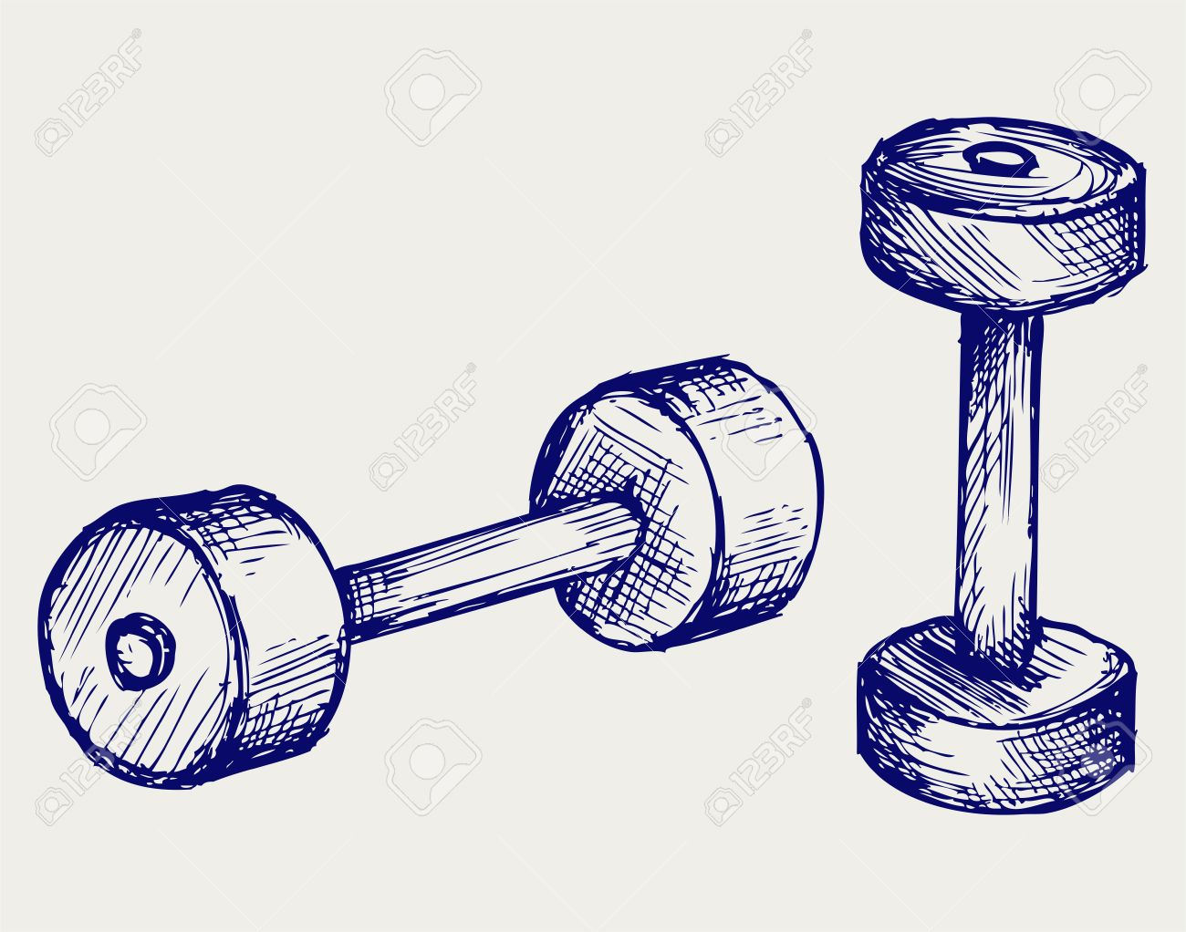 1300x1022 Sketch Dumbbell Weight Royalty Free Cliparts, Vectors, And Stock