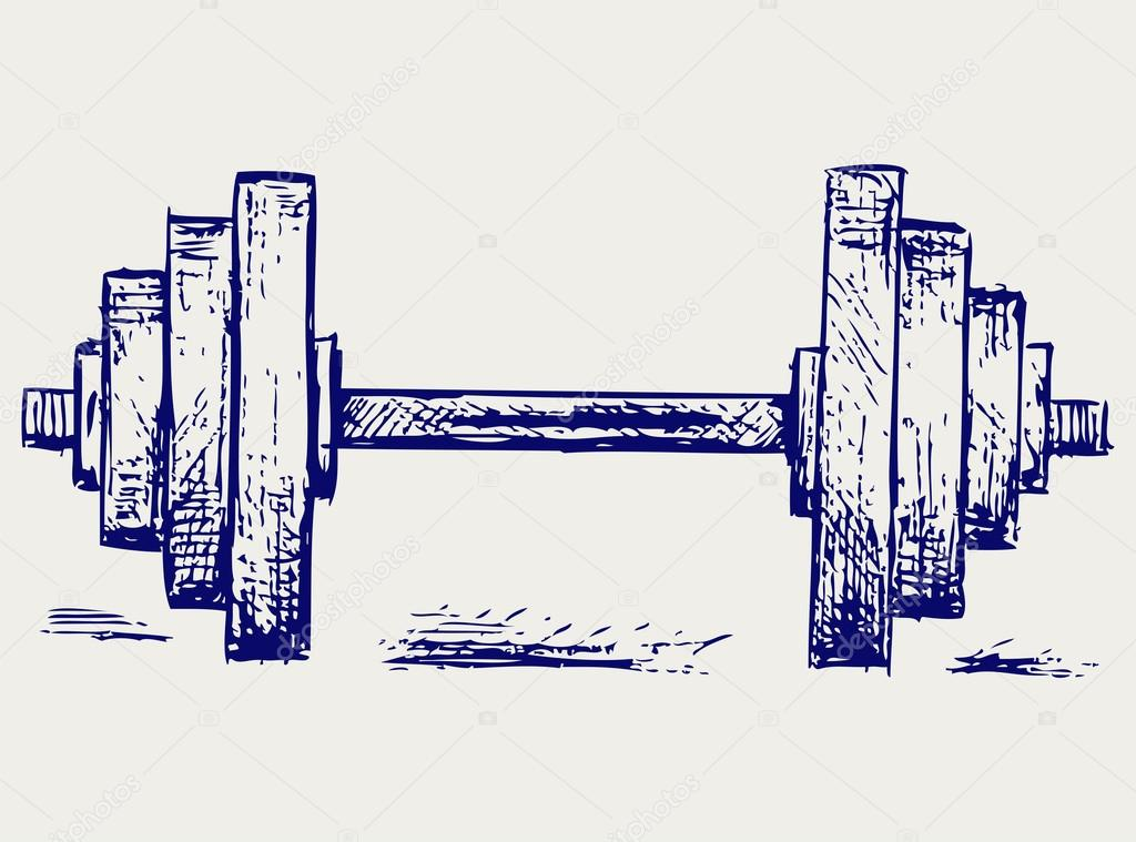 1024x759 Sketch Dumbbell Weight Stock Vector Kreativ