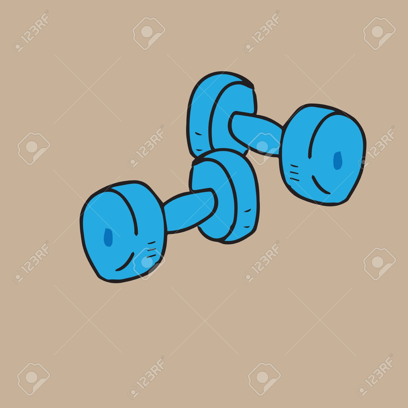 1300x1300 Dumbbells Cartoon Drawing Isolated Royalty Free Cliparts, Vectors