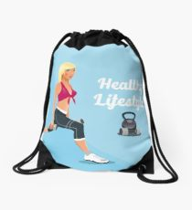 210x230 Dumbbells Drawing Drawstring Bags Redbubble