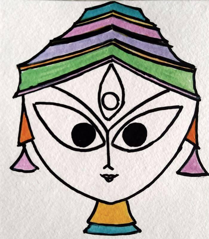 Durga Drawing At GetDrawings.com