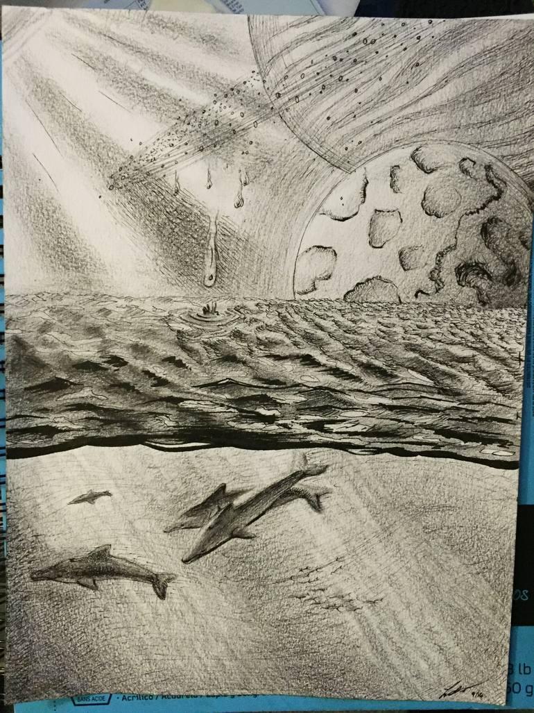 770x1027 Saatchi Art Raining Star Dust Drawing By Larissa Deremo