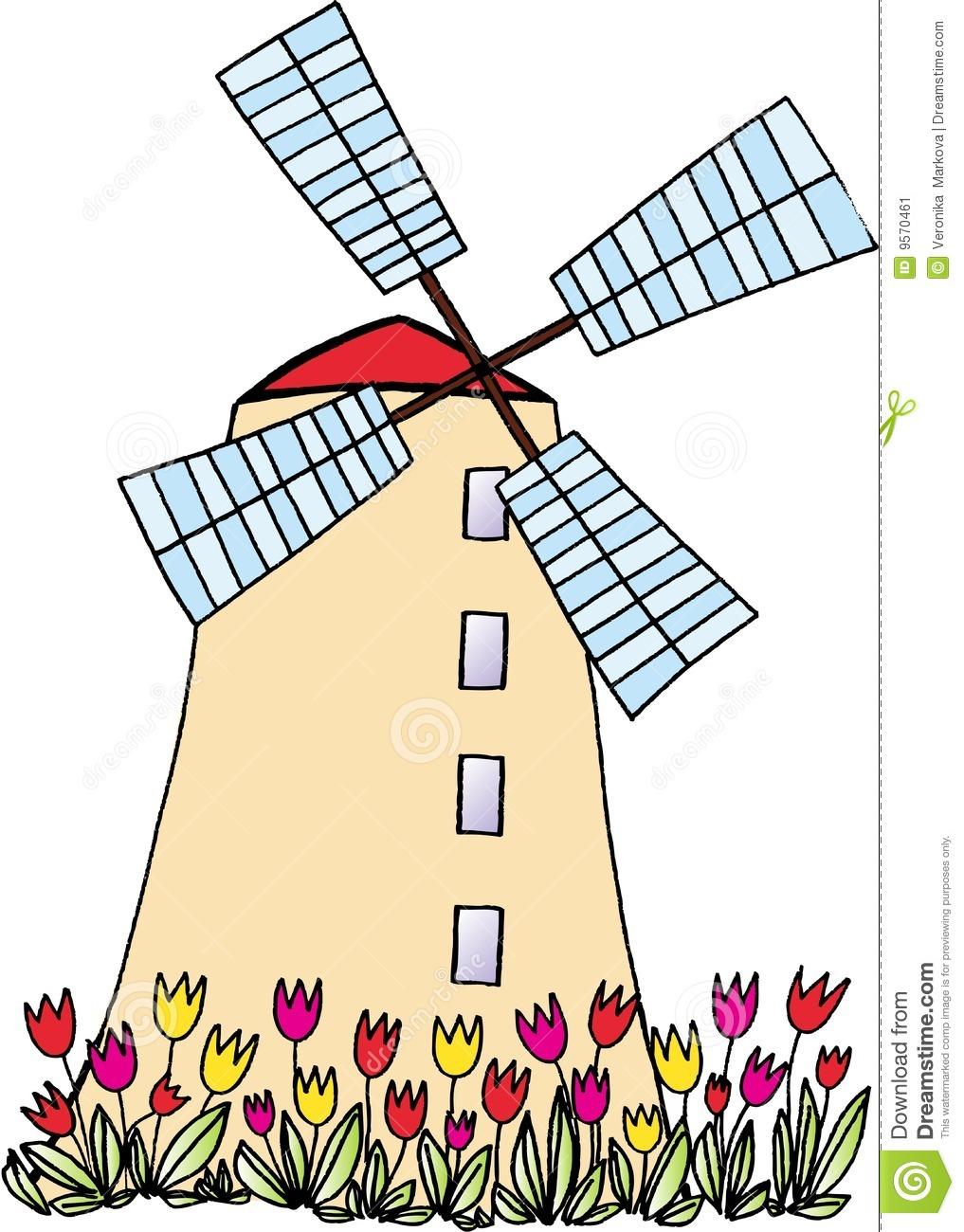 1017x1300 Dutch Windmill Clipart