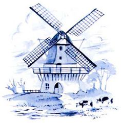 236x241 Dutch Windmill Drawing Kids Crafts Windmill, Dutch
