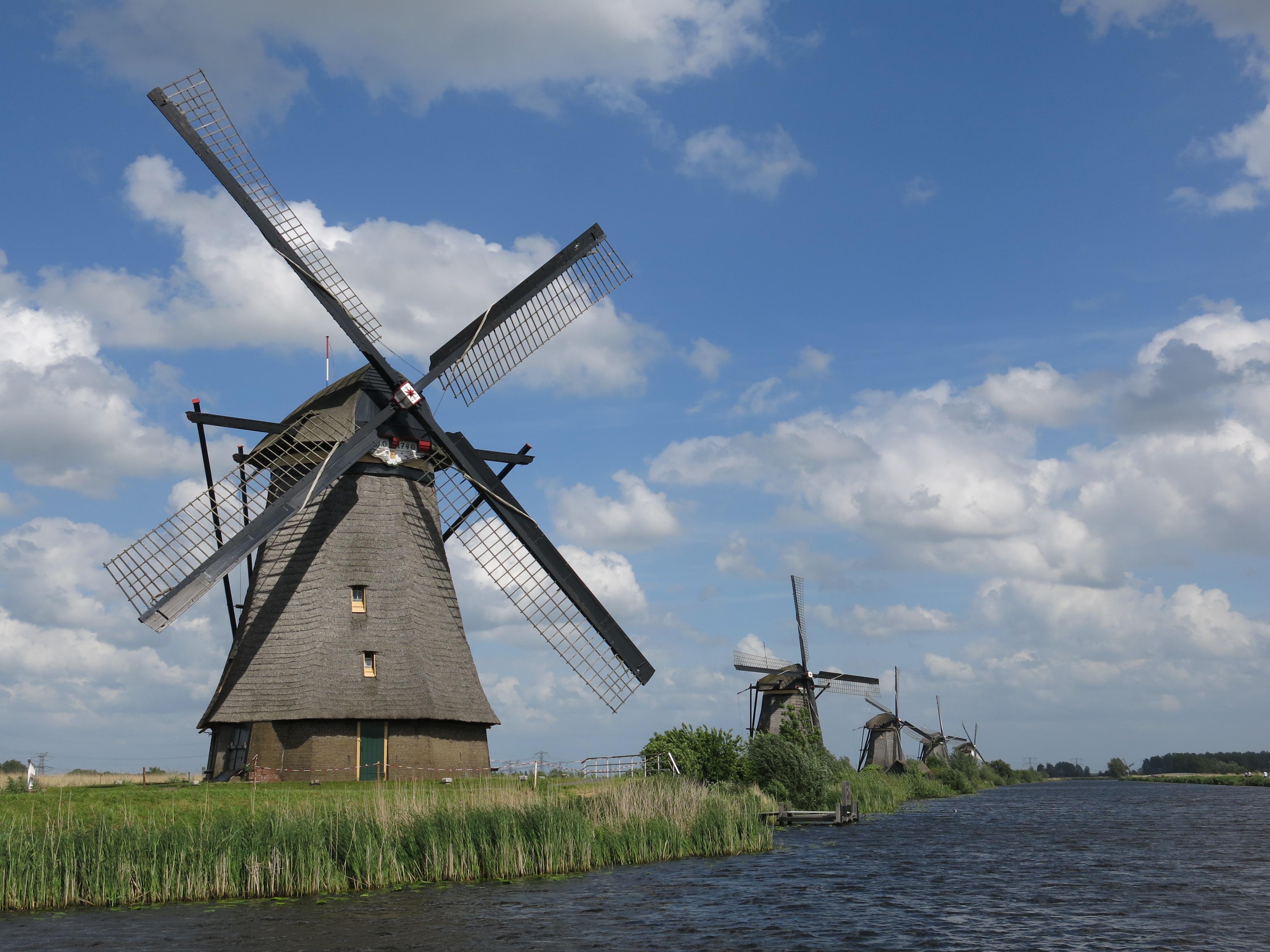 4000x3000 Dutch Windmills Distant Sojourns