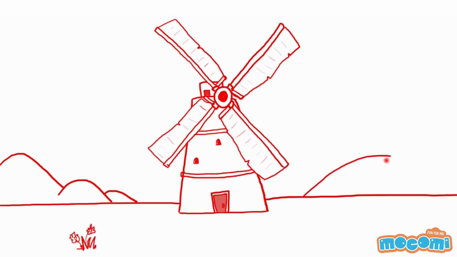 1920x1080 How To Draw A Windmill In 2 Mins
