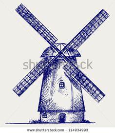 236x272 Simple Dutch Windmill Dutch Clip Art Windmill