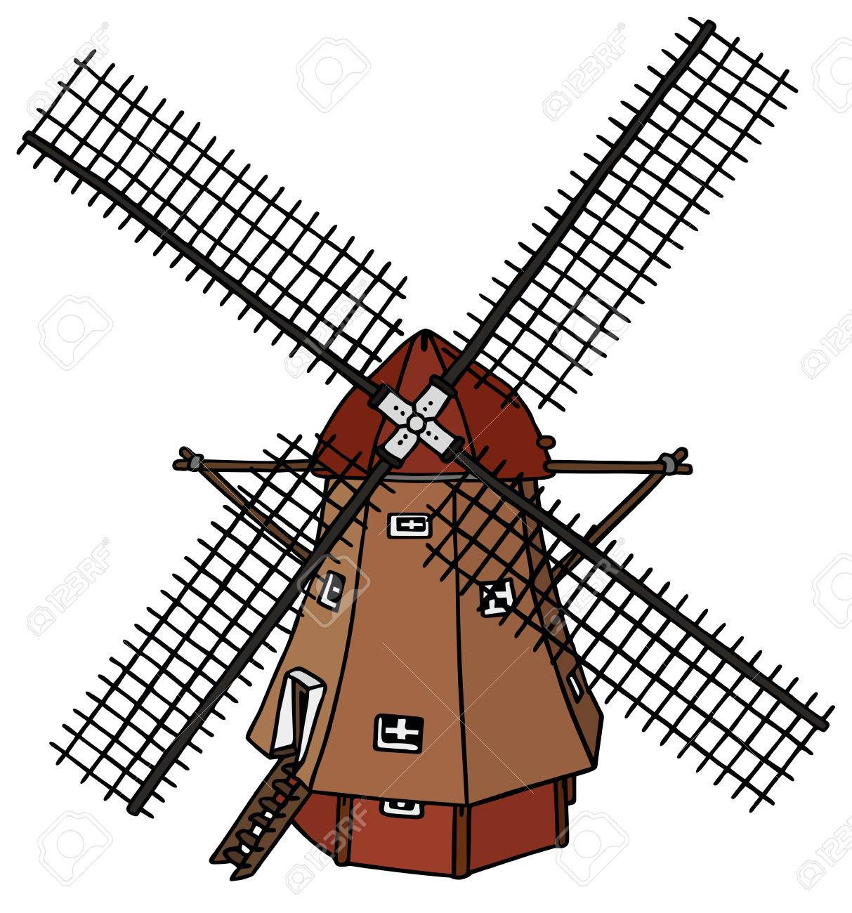 1213x1300 Traditional Dutch Windmill Royalty Free Cliparts, Vectors,