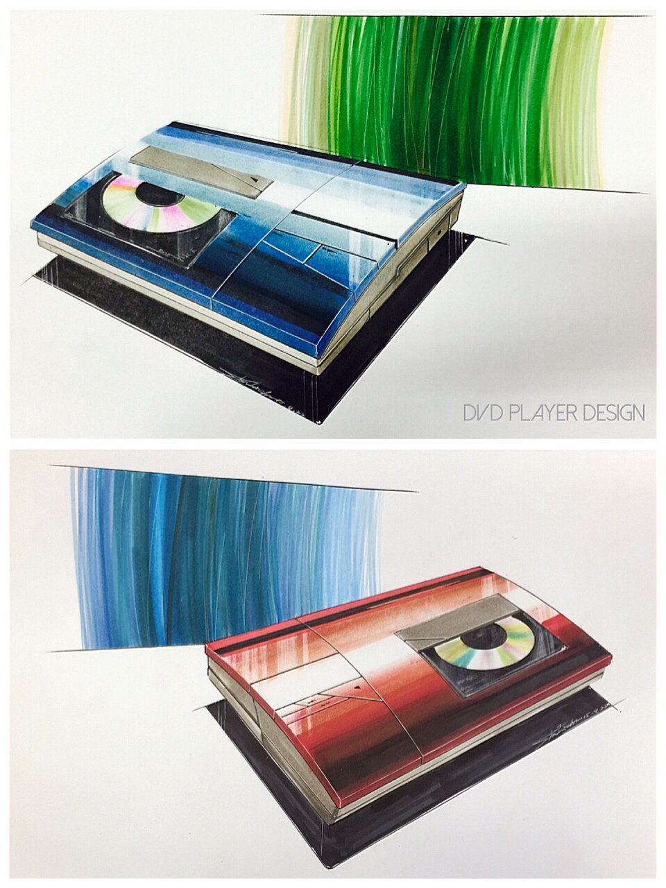 960x1280 Dvd Player Design Marker Drawing Pastel Uni 0.1mm0.5mm Product