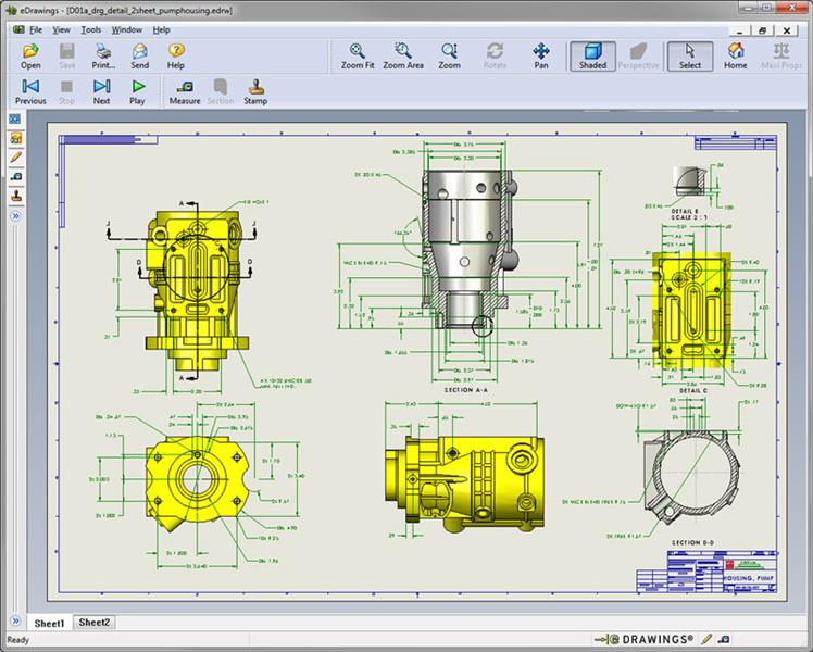 748x600 Free 3d Cad Viewer Solidworks E Drawings Overview
