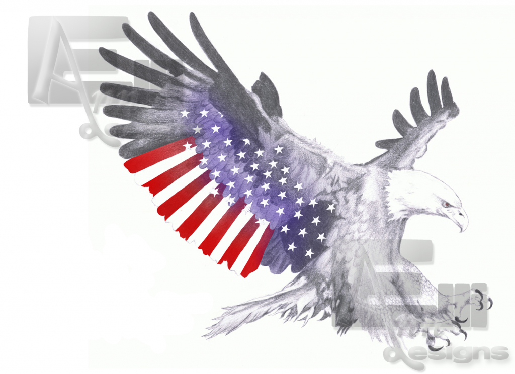 1024x744 American Eagle Draw American Flag With Eagle Drawing Acaz
