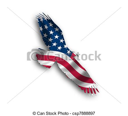 450x409 American Flag Eagle Illustrations And Clip Art. 2,467 American