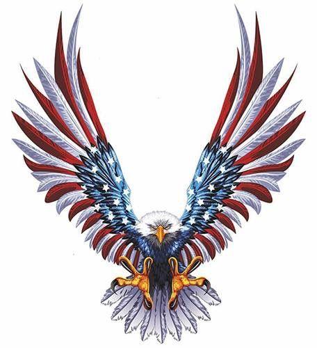 456x500 Patriotic Eagle American Flag Tattoo's Eagle