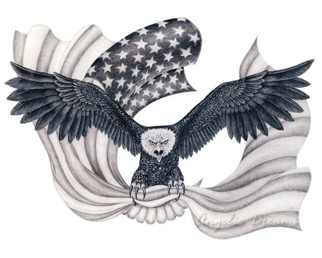 650x520 Pencil Drawings Pencil Drawings American Flag