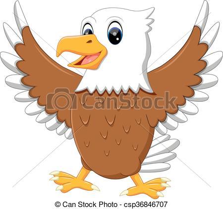 450x423 Illustration Of Cute Eagle Cartoon Vector Clipart