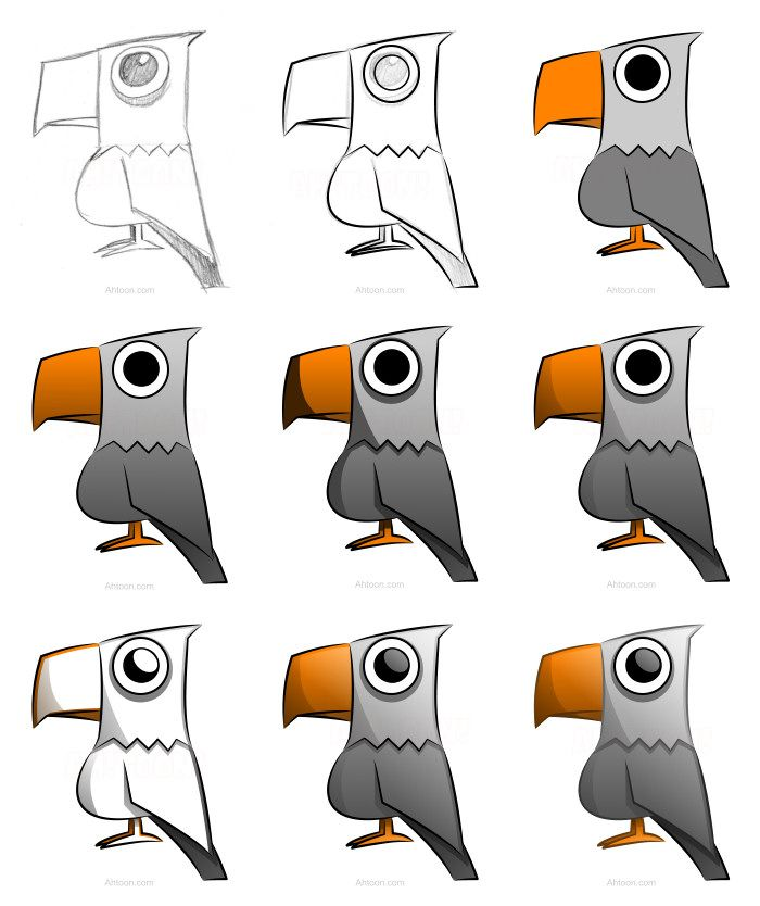 700x834 Now You Know How To Draw A Cool Cartoon Eagle Using A Vector