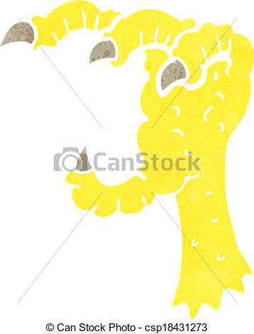 358x470 Cartoon Eagle Claw Vectors Illustration