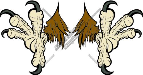 500x264 Eagle Claw Clipart