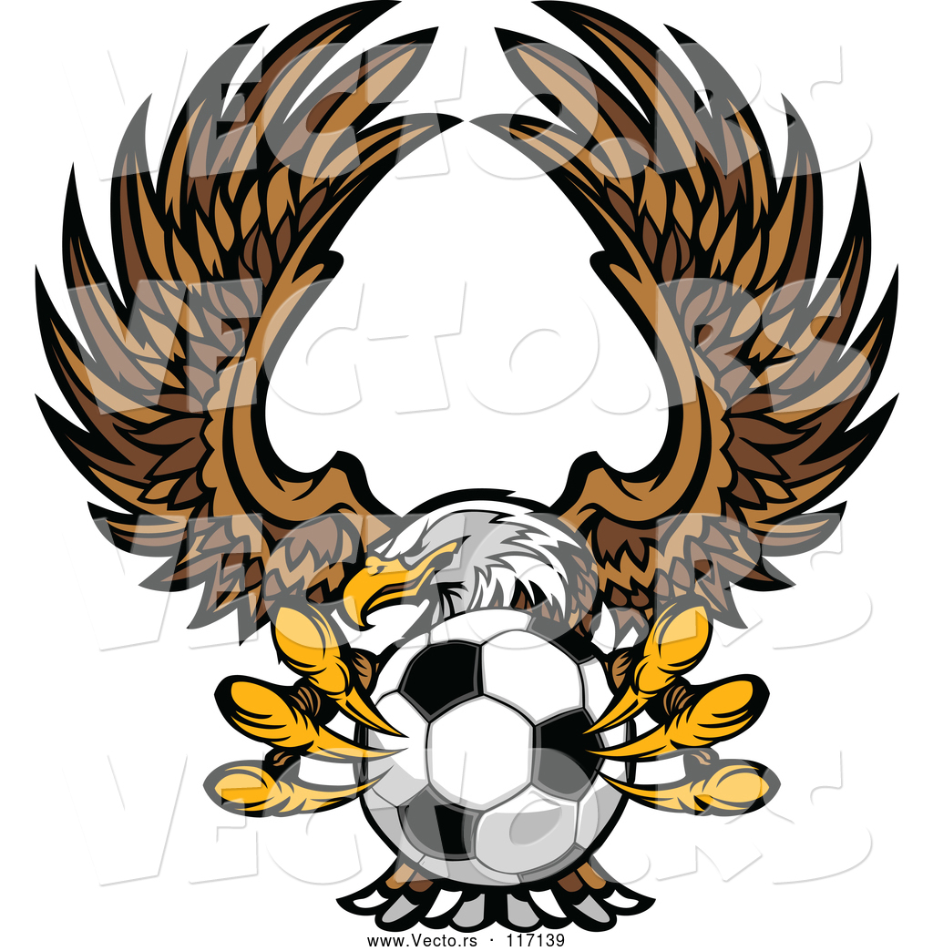 1024x1044 Vector Of Fierce Bald Eagle Flying With A Soccer Ball In Its