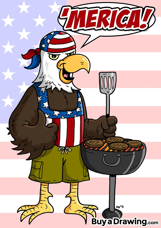 1059x1500 Cartoon Bald Eagle