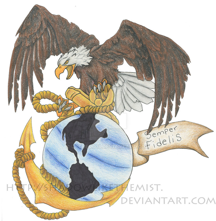 885x903 Eagle Globe And Anchor By Jethero13