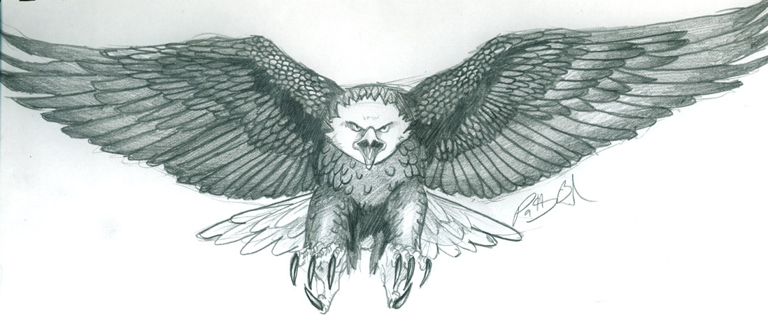 1098x464 Flying Eagle Tattoos Designs