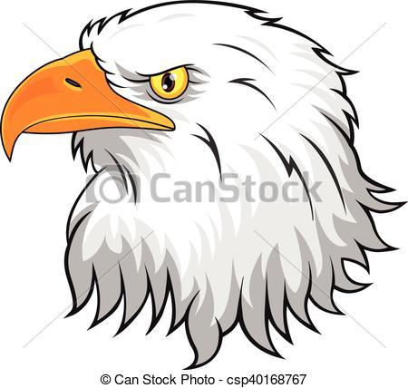 450x428 Vector Illustration Of Eagle Head Mascot Clip Art Vector