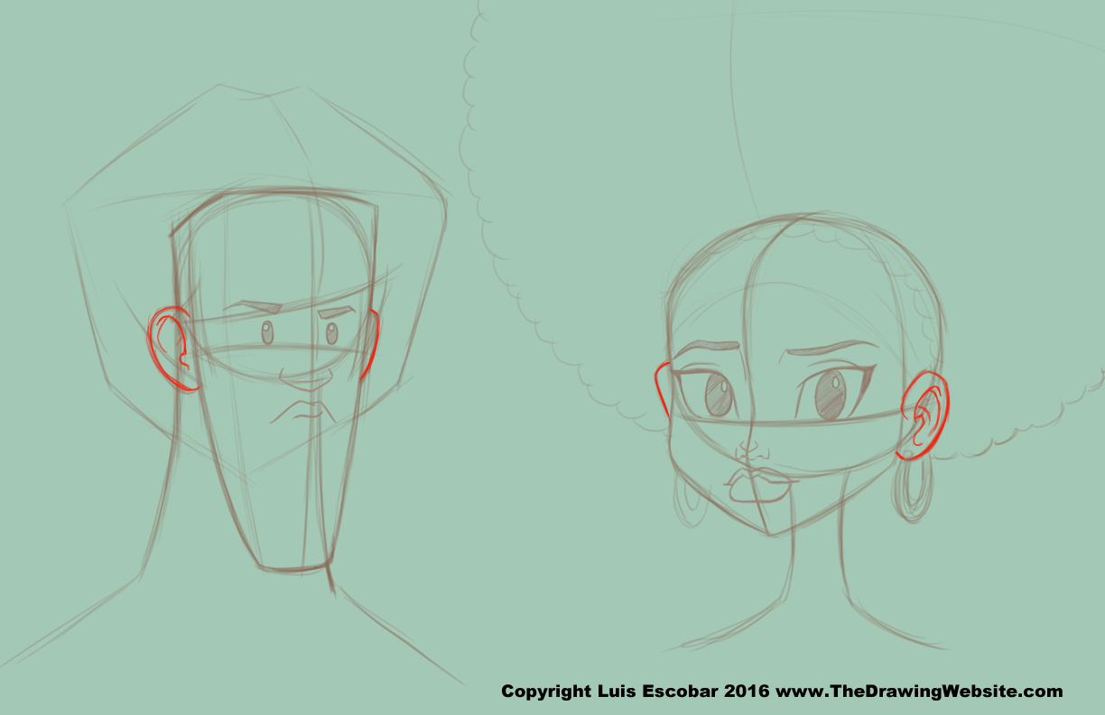 1224x792 Cartoon Ear Formulasthe Drawing Website The Drawing Website