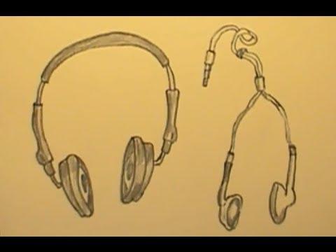 480x360 How To Draw Headphones Earphones Quickly