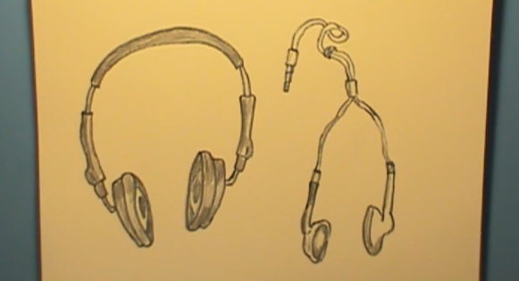 581x315 How To Draw Headphones Amp Earphones Step By Step How To Draw Faster