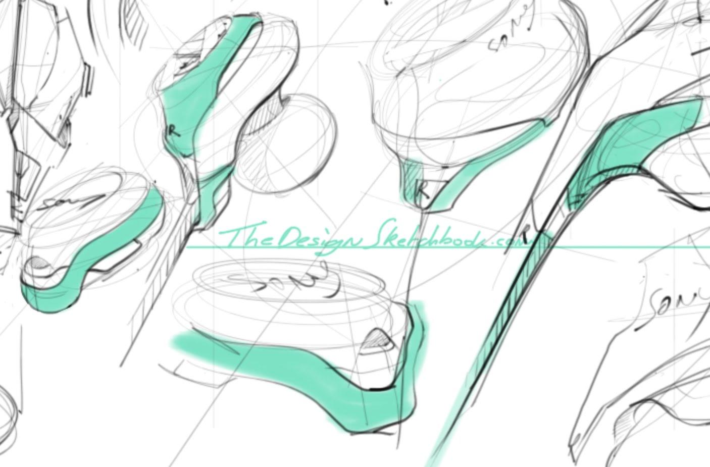 1406x925 Sketching Sony Earphone With Sketchbook Pro On Wacom Cintiq 22hd
