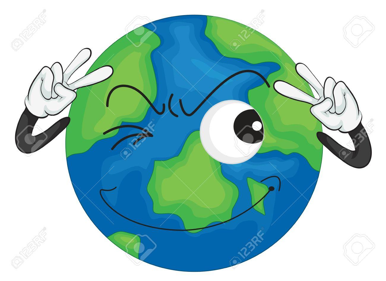 1300x947 Earth Cartoon Drawing Earth Cartoon Drawing Cartoon Planet Earth