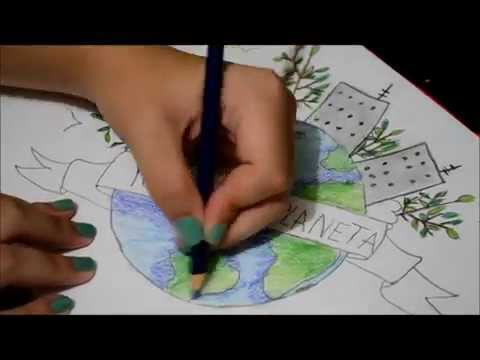 480x360 Speed Drawing Earth Day