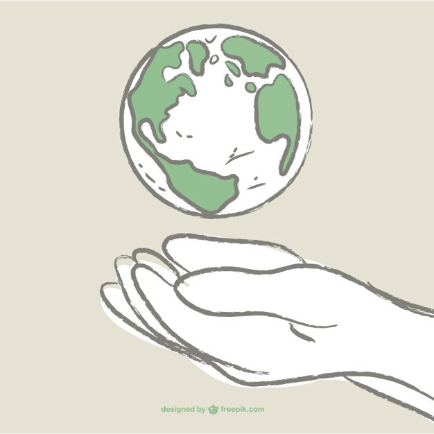 626x626 Earth Day Drawing Vector Free Download